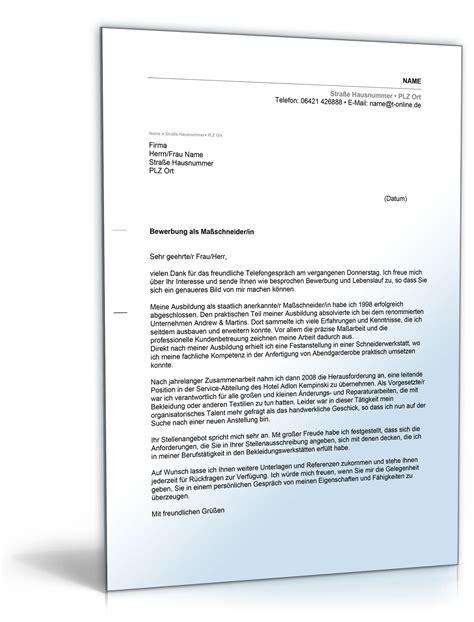 Anschreiben Bewerbung Doc Anschreiben Bewerbung Schneider Schneiderin De