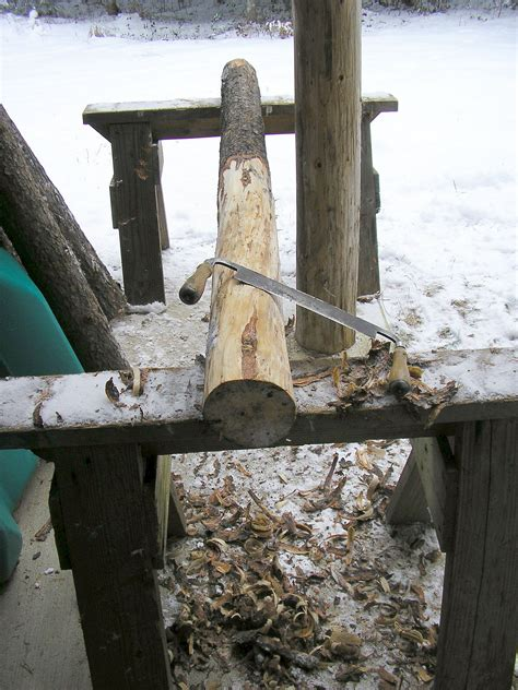 hand peeled logs carpentry diy woodworking carpentry