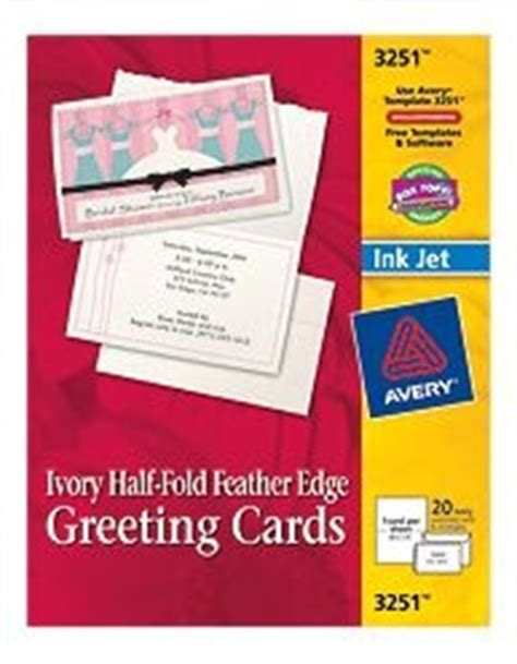 avery 3251 feather edge greeting cards template half fold card stock with feathered edge avery