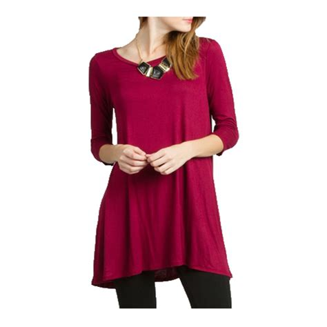 Big Blouse Material Spandex Rayon Fit To Xl Atasan usa womens neck tunic top dress 3 4 sleeve shirt s m l xl plus 2x 3x ebay