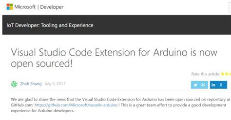 arduino code visual studio microsoft visual studio code のarduino用拡張機能をオープンソース化