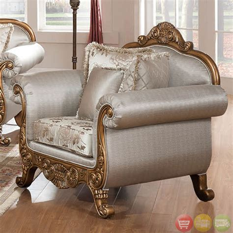 Formal Sofa Sets by Traditional Metallic Finish Formal Sofa Set With Carved Accents Rpcmo80
