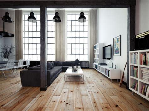 wohnzimmer new york style departamento tipo loft estilo minimalista por oskar firek