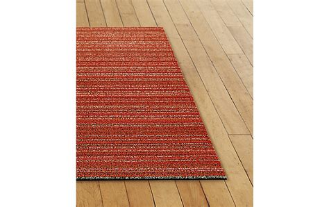 chilewich runner rug chilewich stripe shag floor runner design within reach
