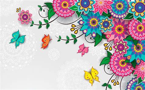 artistic pattern wallpaper flowers pattern vector art background wallpaper for