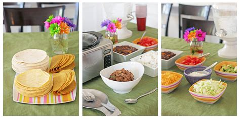 Taco Bar Toppings by Easy Entertaining Taco Bar Cookie Cooking