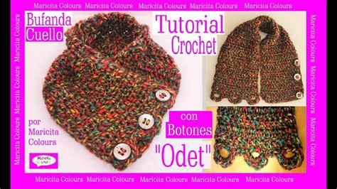 cuello bufanda en crochet paso a paso funnycat tv c 243 mo tejer bufanda cuello a crochet con botones odet
