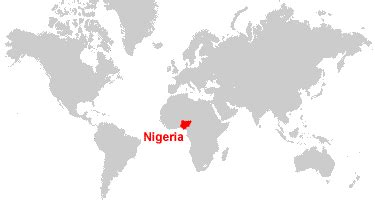 nigeria on a world map nigeria map and satellite image