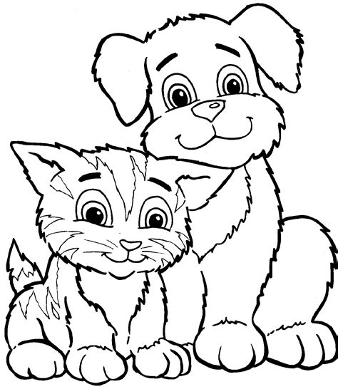 printable coloring pages of dogs color pages printable coloring cat animals coloring ideas
