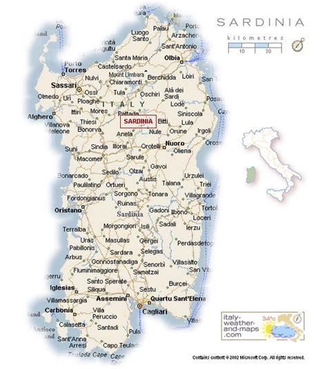 sardinia map a detailed map of sardinia italy