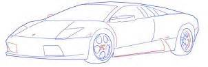 Steps To Draw A Lamborghini How To Draw A Lamborghini Step By Step Cars Draw Cars
