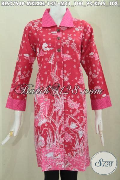 desain baju endek untuk kantor batik blus warna merah desain istimewa motif mewah baju