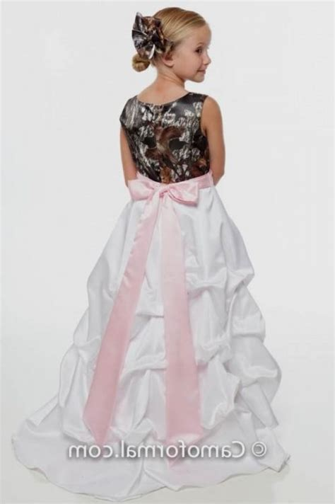 pink camo flower girl dresses 2016 2017   B2B Fashion