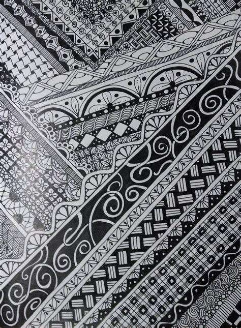 zentangle pattern floor zentangle inspired art on moleskine cahier notebook using