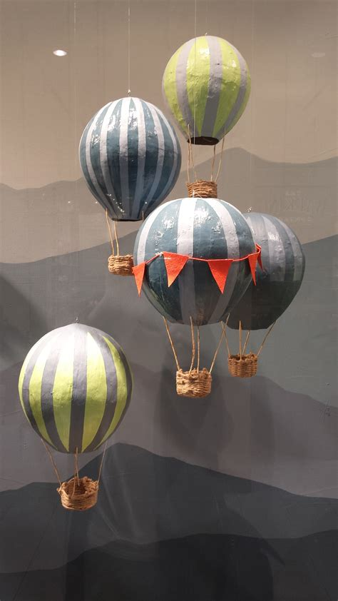 Paper Mache Balloon Crafts - paper mache air balloons whiskers on kittens