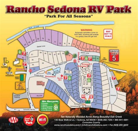 arizona rv parks map verde rv park airstreamy