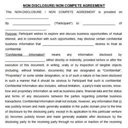 non compete agreement 7 free pdf doc download