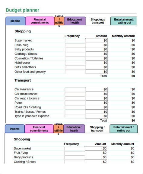simple budget template excel simple budget spreadsheet template 11 freeword excel