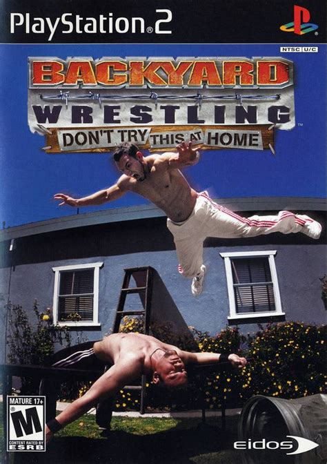 ps2 backyard wrestling backyard wrestling don t try this at home box shot for
