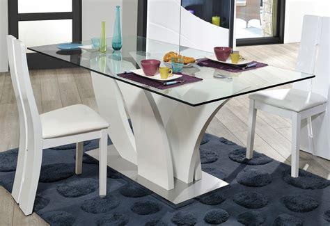 Indogate Com Table De Salle A Manger Moderne En Verre Bureau En Verre Trempé