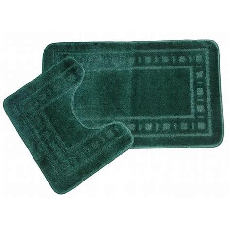 2 squares design green bathroom bath mat set