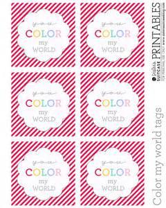 color tag diy rainbow treats printables for my s
