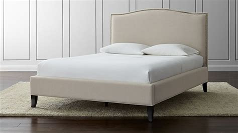 colette bed crate and barrel colette upholstered queen bed origin natural crate and