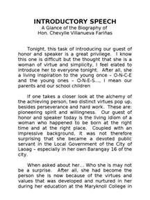 introducing a guest speaker template sle speech in introducing a guest speaker chairman