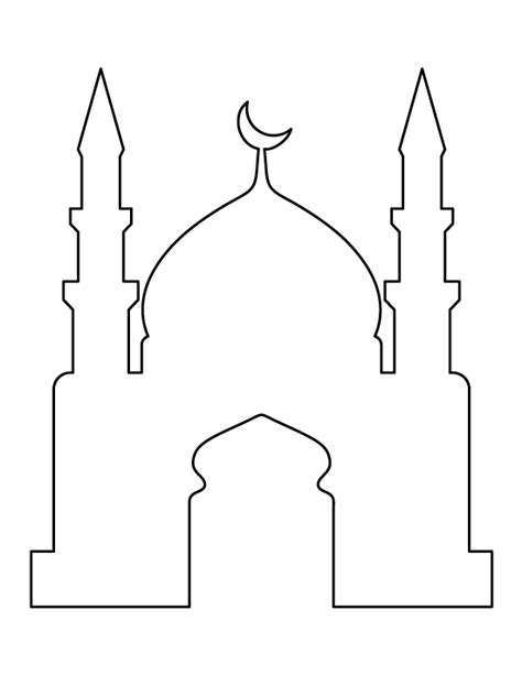 islamic pattern template mosque pattern use the printable outline for crafts
