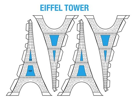 eiffel tower model template science projects eiffel tower model free