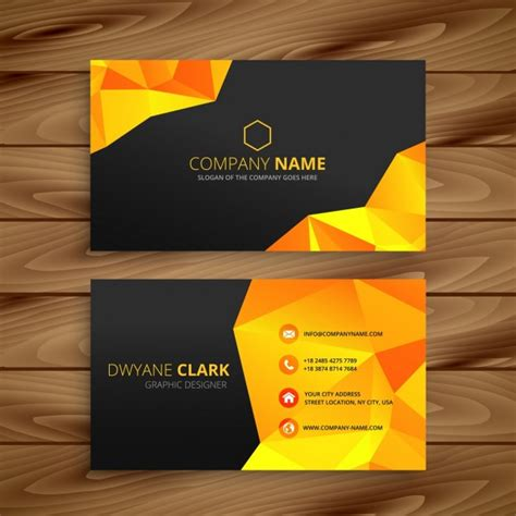 business card template freepik abstract yellow business card vector free