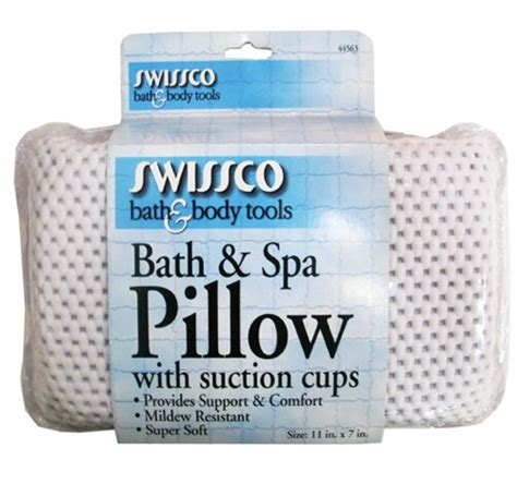 bathtub pillow with suction cups swissco bath and spa pillow with suction cups