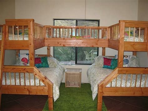 awesome bunk beds quadruple bunk beds kids rooms pinterest the two