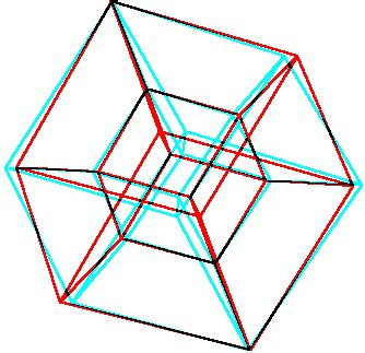 Drawing 4d Shapes by Construction Of The Hyper Cube Tesseract