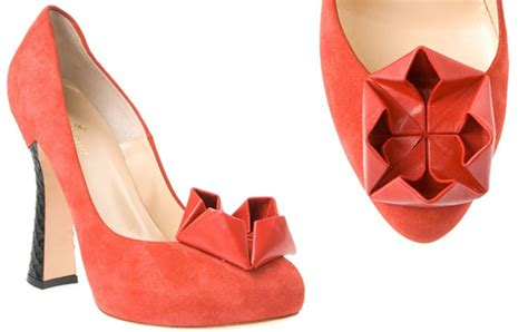 shoe origami beatrix ong oru suede pumps with origami gt shoeperwoman