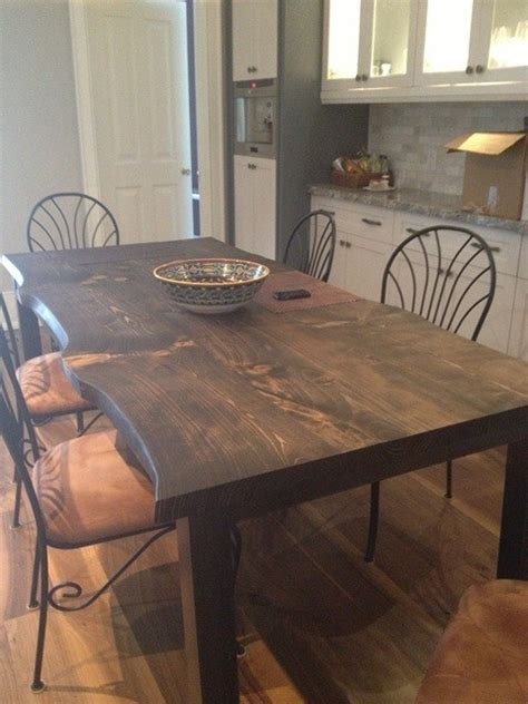 reclaimed spruce live edge slab kitchen table