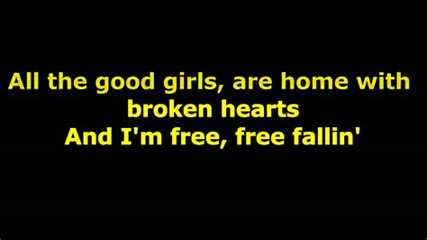 youtube music free song lyrics tom petty free fallin lyrics youtube