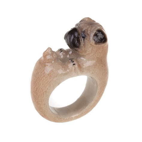 pug ring and pug porcelain ring at jewellery4