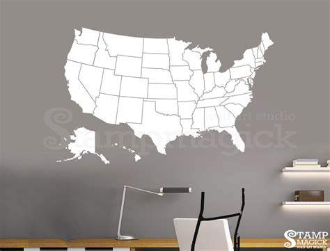 map usa vinyl united states of america map wall decal usa wall map vinyl