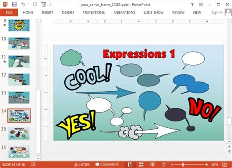 comic powerpoint template animated comic book template for powerpoint