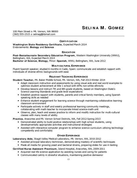 resume templates for educators resumes and cover letters for educators free