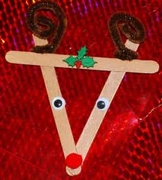 life s a bowl of cherries popsicle stick reindeer ornament