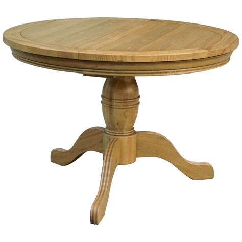 Extending Circular Dining Table Linden Solid Oak Dining Room Furniture Extending