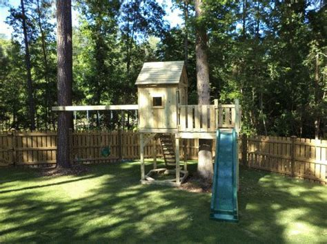 1000 Images About Treehouse Swing Set Ideas On Pinterest