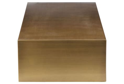 brushed brass desk l cube brass home and office furniture
