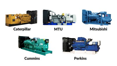 comparison between best diesel generator brands like mtu