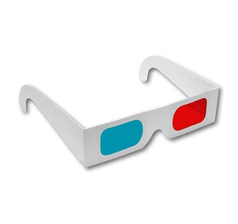 How To Make 3d Glasses With Paper - paper 3d glasses cyan lenses shop now