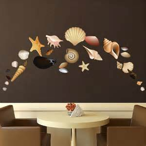 Seashell Wall Stickers Seashell Wall Mural Decals Seashell Design Pack Decals