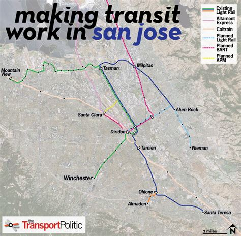 sjsu cus map san jose plots a renewal of its struggling light rail network 171 the transport politic