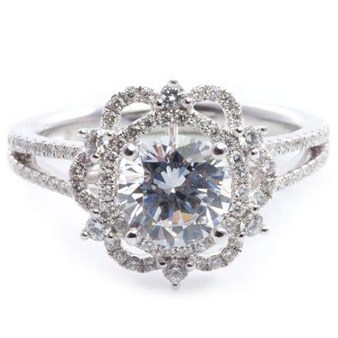 vintage inspired engagement rings diamondstud